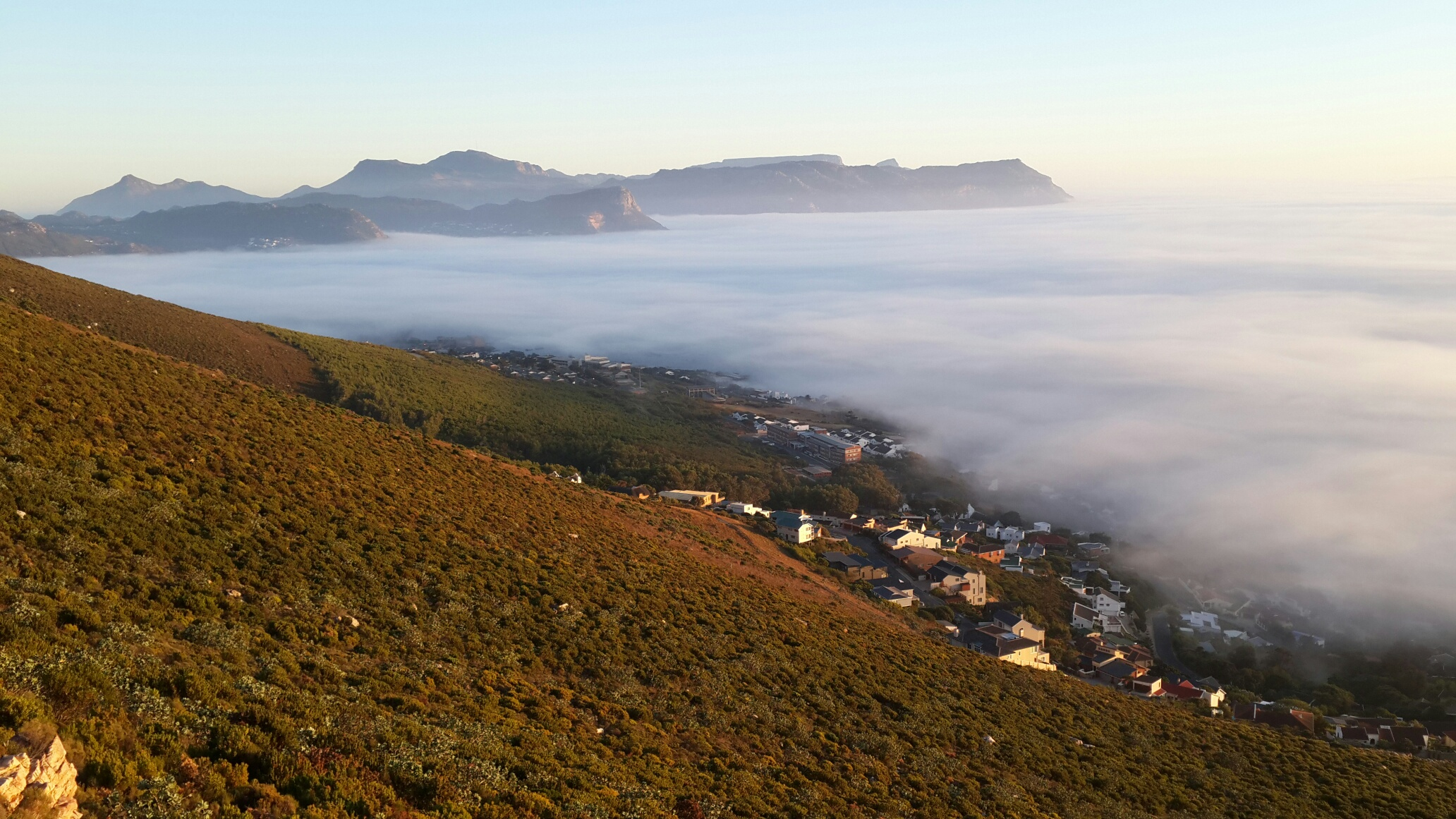 Mist over False bay April 2015